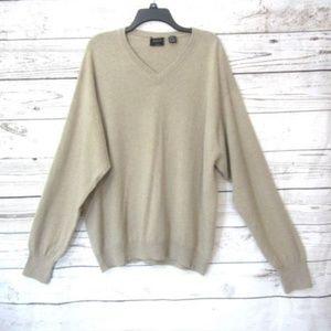 Forte 100% Cashmere Sweater V Neck NrNu Beige $350